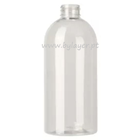 Cylindrical PET bottle 500 ml transparent